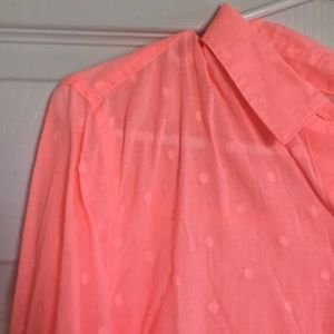 Tops - Peach button down